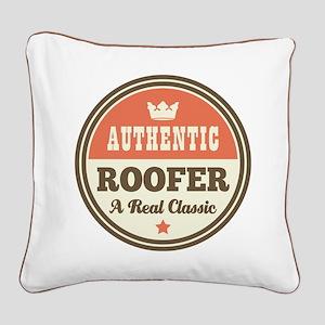 Roofer Vintage Square Canvas Pillow