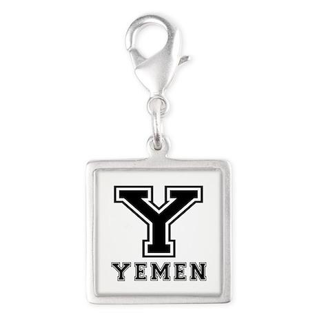 Yemen Designs Silver Square Charm