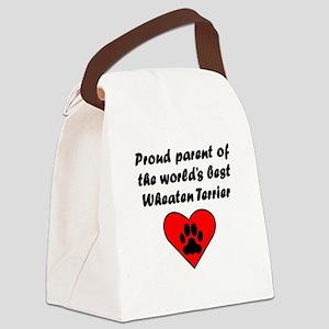 Wheaten Terrier Parent Canvas Lunch Bag