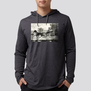 The road,--summer - 1853 Mens Hooded Shirt