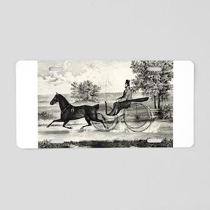The road,--summer - 1853 Aluminum License Plate