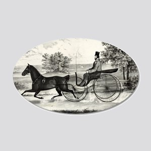The road,--summer - 1853 20x12 Oval Wall Decal