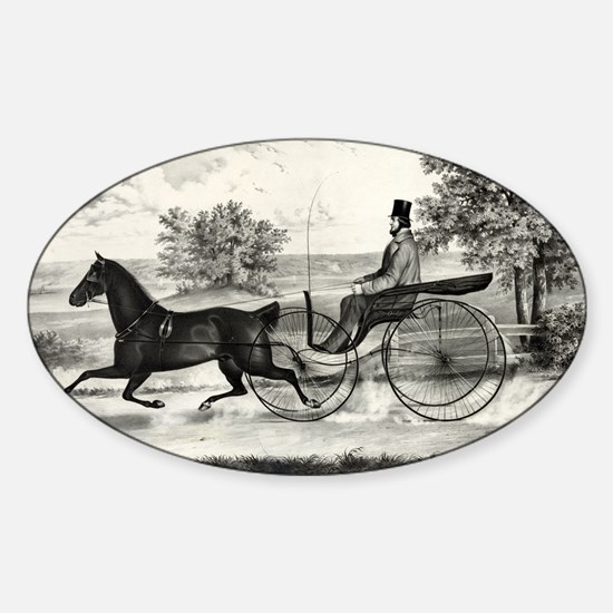 The road,--summer - 1853 Sticker (Oval)