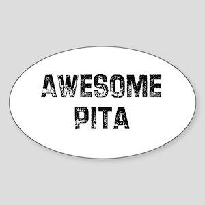 Awesome Pita Oval Sticker