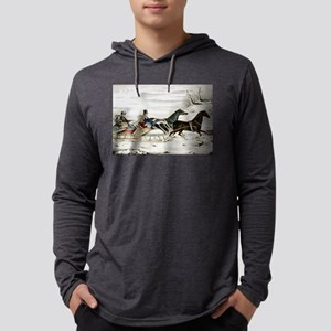 The sleigh race - 1848 Mens Hooded Shirt
