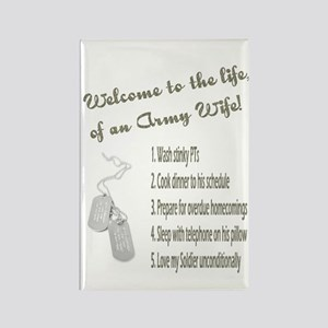 Life of An Army Wife Rectangle Magnet (10 pack)