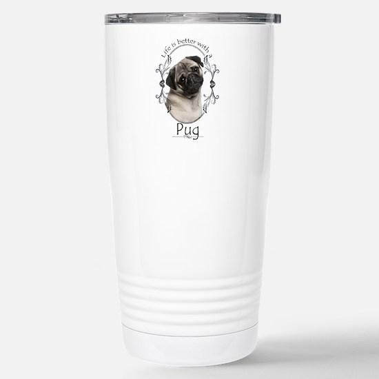 Lifes Better Pug Travel Mug