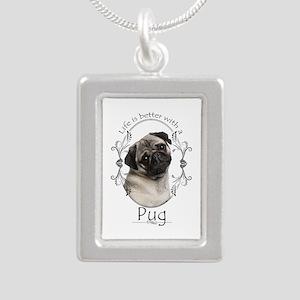 Lifes Better Pug Necklaces