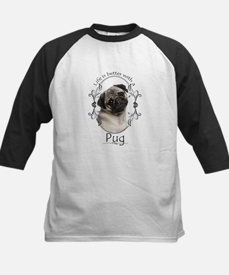 Lifes Better Pug Baseball Jersey