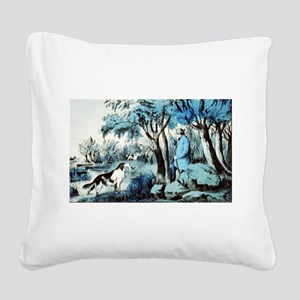 Water rail shooting - 1855 Square Canvas Pillow