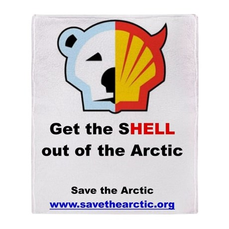 Get the shell out of the arctic Throw Blanket