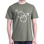 Gay Pride Rainbow Love Dark T-Shirt