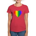 Gay Pride Rainbow Love Women's Dark T-Shirt