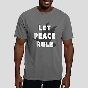 Let Peace Rule Mens Comfort Colors Shirt