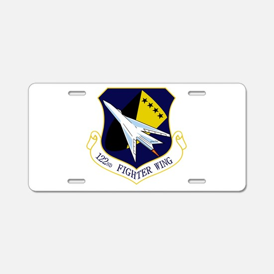 122nd FW Aluminum License Plate