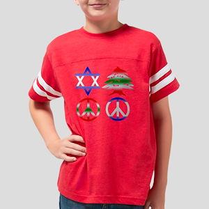 TShirtBlack_IsraelLebanonPeac Youth Football Shirt