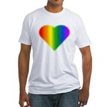 Gay Pride Rainbow Love Fitted T-Shirt