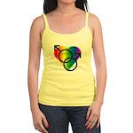 Gay Pride Rainbow Love Jr. Spaghetti Tank