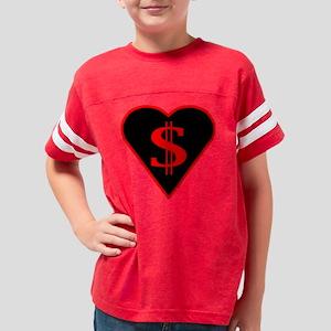 3-DOLLAR-HEART Youth Football Shirt
