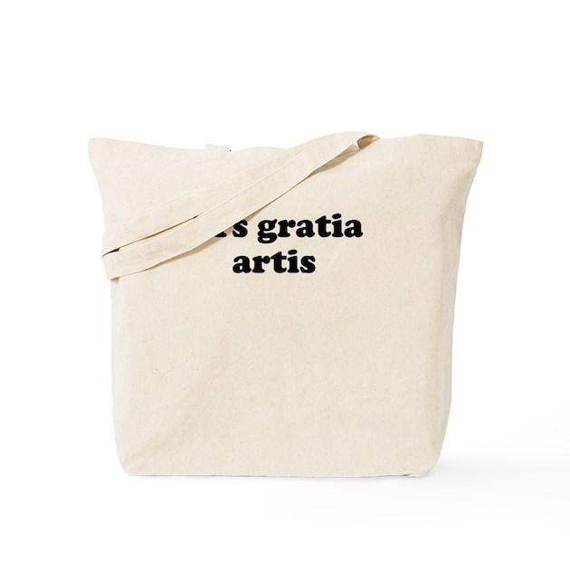 ars gratia artis tote bag by latinsayings. Black Bedroom Furniture Sets. Home Design Ideas