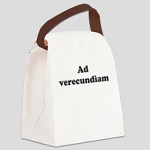 Ad verecundiam Canvas Lunch Bag