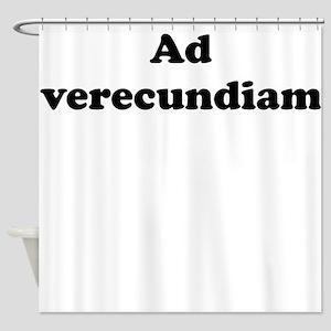Ad verecundiam Shower Curtain