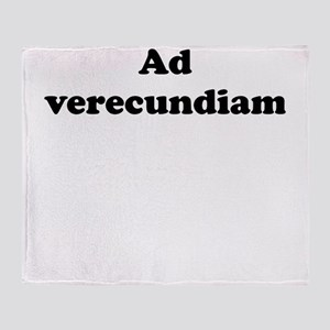 Ad verecundiam Throw Blanket