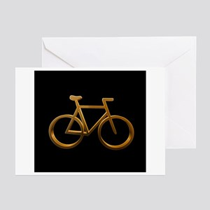 Gold Bicycle Designs Greeting Cards (Pk of 10)