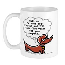 Wiener dog (floors) Mug