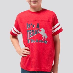 10x10_TEXAS_THING_3BL Youth Football Shirt
