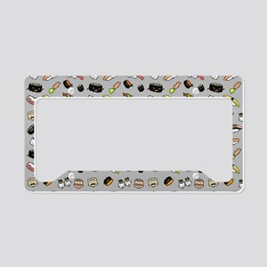 Cute Sushi Pattern License Plate Holder