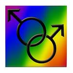 Gay Pride Rainbow Love Tile Coaster
