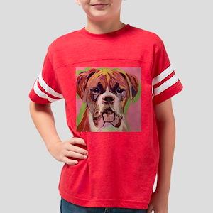 boxer dog 11x11 Youth Football Shirt