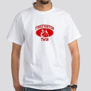 Firefighter TWIN (Flame) White T-Shirt
