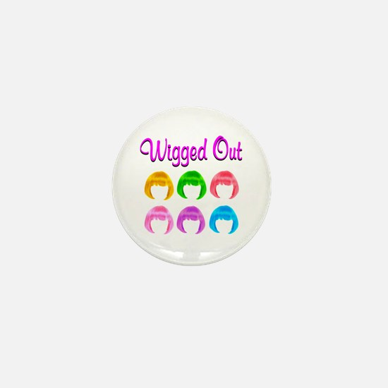 WIGGED OUT Mini Button