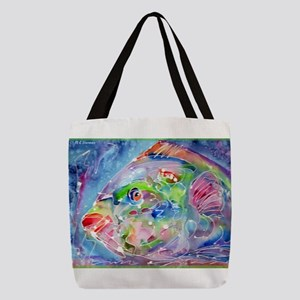 Tropical Fish! Colorful art! Polyester Tote Bag