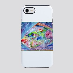 Tropical Fish! Colorful art! iPhone 7 Tough Case