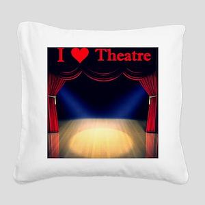 Theatre Square Canvas Pillow