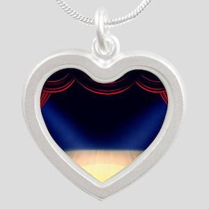 Theatre Silver Heart Necklace