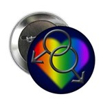 """Gay Pride Rainbow Love 2.25"""" Button (10 pack)"""