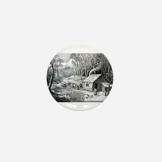 Home in the wilderness - 1870 Mini Button