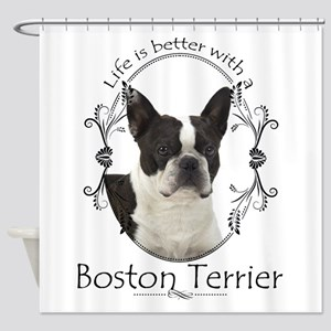 Lifes Better Boston Shower Curtain