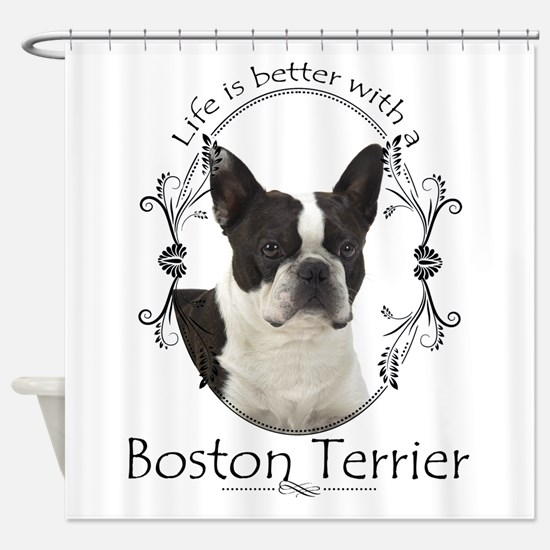 Lifes Better Boston Shower Curtain