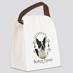Lifes Better Boston Canvas Lunch Bag