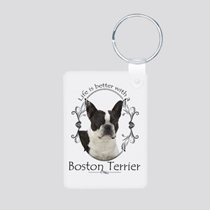 Lifes Better Boston Keychains