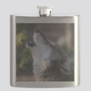 wolf howling Flask