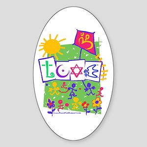 Kids LOVE Playground Oval Sticker