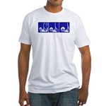 Blue Thrust Sequence Fitted T-shirt