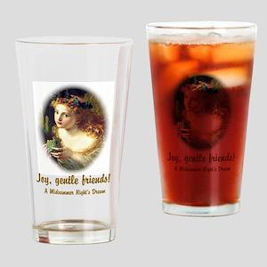 Joy, Gentle Friends! Drinking Glass