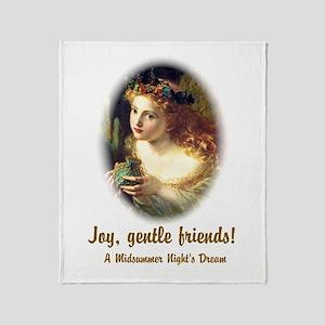 Joy, Gentle Friends! Throw Blanket